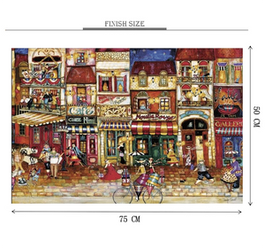 Moulis Rogue City Artwork Wooden 1000 Piece Jigsaw Puzzle Toy For Adults and Kids