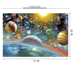 Constatine Planets Wooden 1000 Piece Jigsaw Puzzle Toy For Adults and Kids