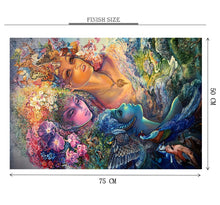 Goddess of Flora and Fauna Wooden 1000 Piece Jigsaw Puzzle Toy For Adults and Kids