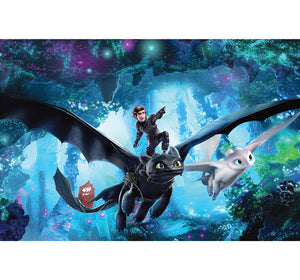 Riding Black Dragon Wooden 1000 Piece Jigsaw Puzzle Toy For Adults and Kids