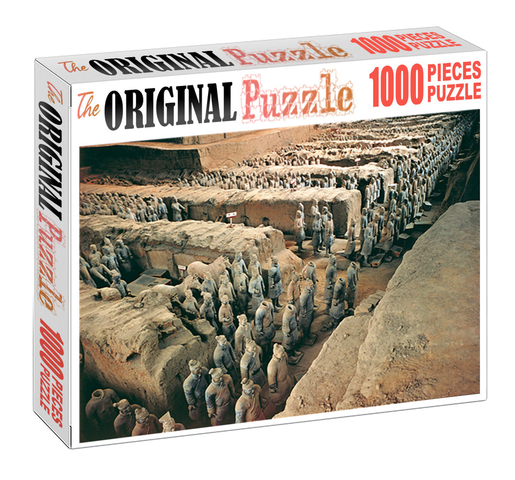 Tomb of Warriors is Wooden 1000 Piece Jigsaw Puzzle Toy For Adults and Kids