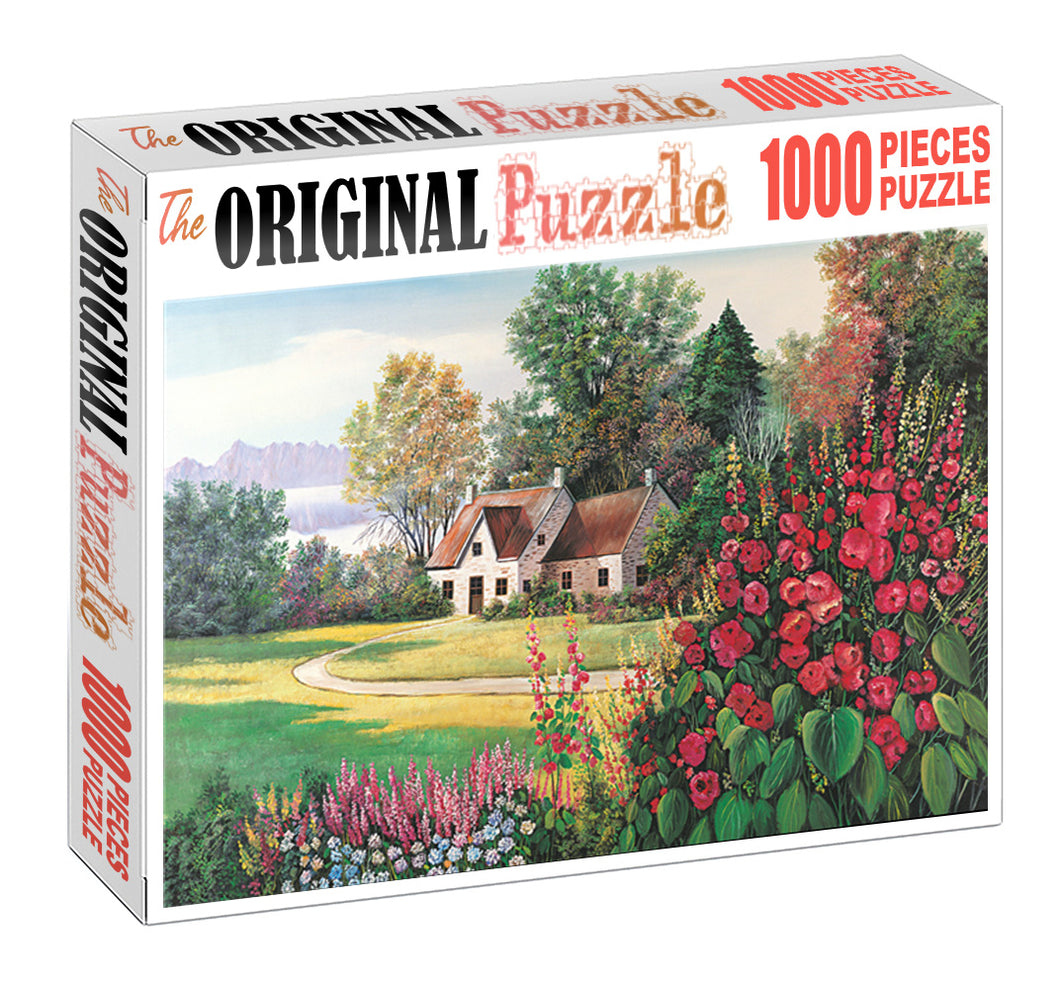 House Garden is Wooden 1000 Piece Jigsaw Puzzle Toy For Adults and Kids