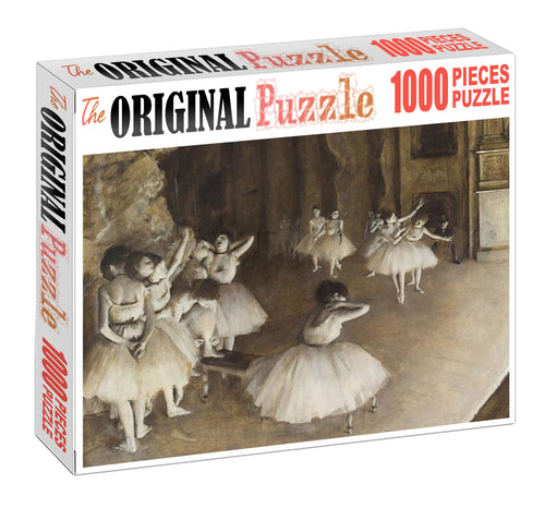Ballet Girls Practicing Wooden 1000 Piece Jigsaw Puzzle Toy For Adults and Kids