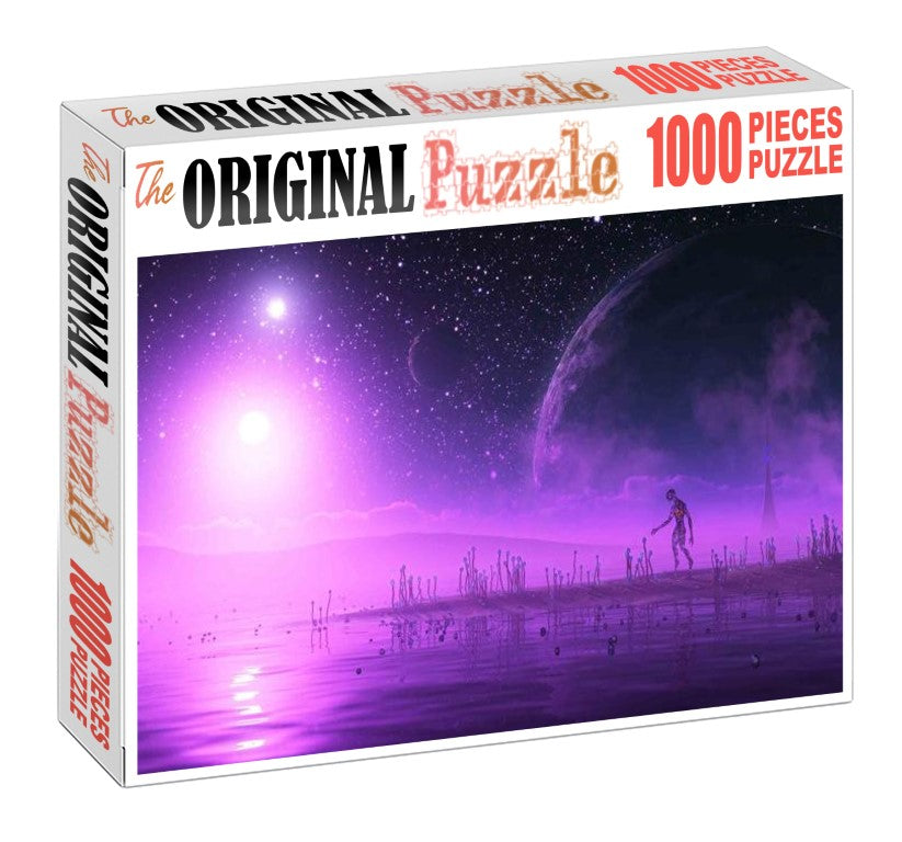 Purple Light of Dead Wooden 1000 Piece Jigsaw Puzzle Toy For Adults and Kids
