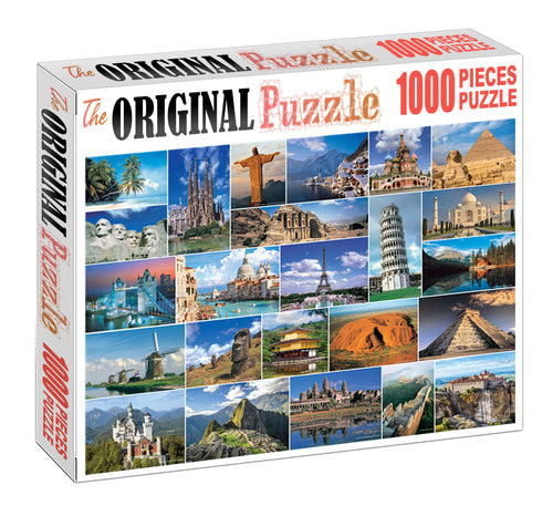 Check Block of Wonders is Wooden 1000 Piece Jigsaw Puzzle Toy For Adults and Kids