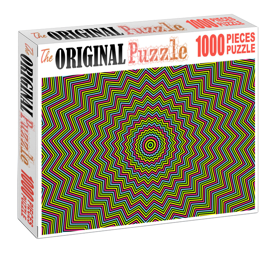 Zigzag Maze Pattern Wooden 1000 Piece Jigsaw Puzzle Toy For Adults and Kids