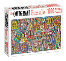 Abstract Cartoon Artwork Wooden 1000 Piece Jigsaw Puzzle Toy For Adults and Kids