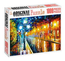 City of Lights Painting Wooden 1000 Piece Jigsaw Puzzle Toy For Adults and Kids
