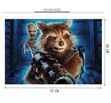 Mini Groot and Rocket Wooden 1000 Piece Jigsaw Puzzle Toy For Adults and Kids