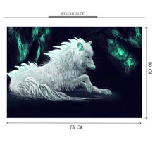 White Wolf Wooden 1000 Piece Jigsaw Puzzle Toy For Adults and Kids