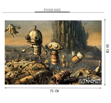 Machinarium is Wooden 1000 Piece Jigsaw Puzzle Toy For Adults and Kids