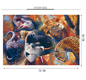 Legendary Animal Wooden 1000 Piece Jigsaw Puzzle Toy For Adults and Kids