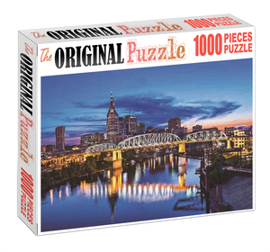 Bridge Potrait Wooden 1000 Piece Jigsaw Puzzle Toy For Adults and Kids