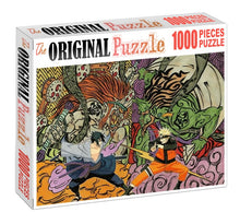 Demon's Fight is Wooden 1000 Piece Jigsaw Puzzle Toy For Adults and Kids