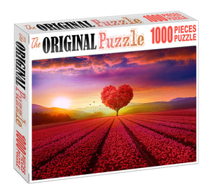 Valley of Love Wooden 1000 Piece Jigsaw Puzzle Toy For Adults and Kids