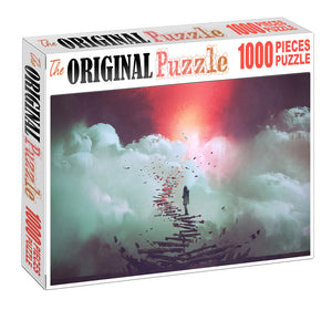 Steps to Eternity Wooden 1000 Piece Jigsaw Puzzle Toy For Adults and Kids
