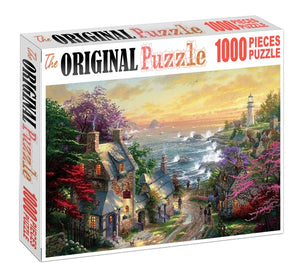 Home at Sea Shore Wooden 1000 Piece Jigsaw Puzzle Toy For Adults and Kids