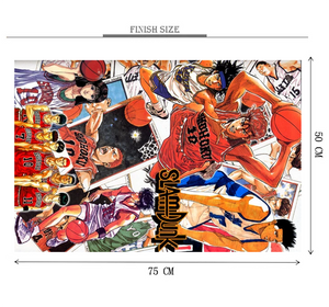 Slam Dun Basketball is Wooden 1000 Piece Jigsaw Puzzle Toy For Adults and Kids