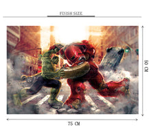 Hulk vs Iron Man Wooden 1000 Piece Jigsaw Puzzle Toy For Adults and Kids