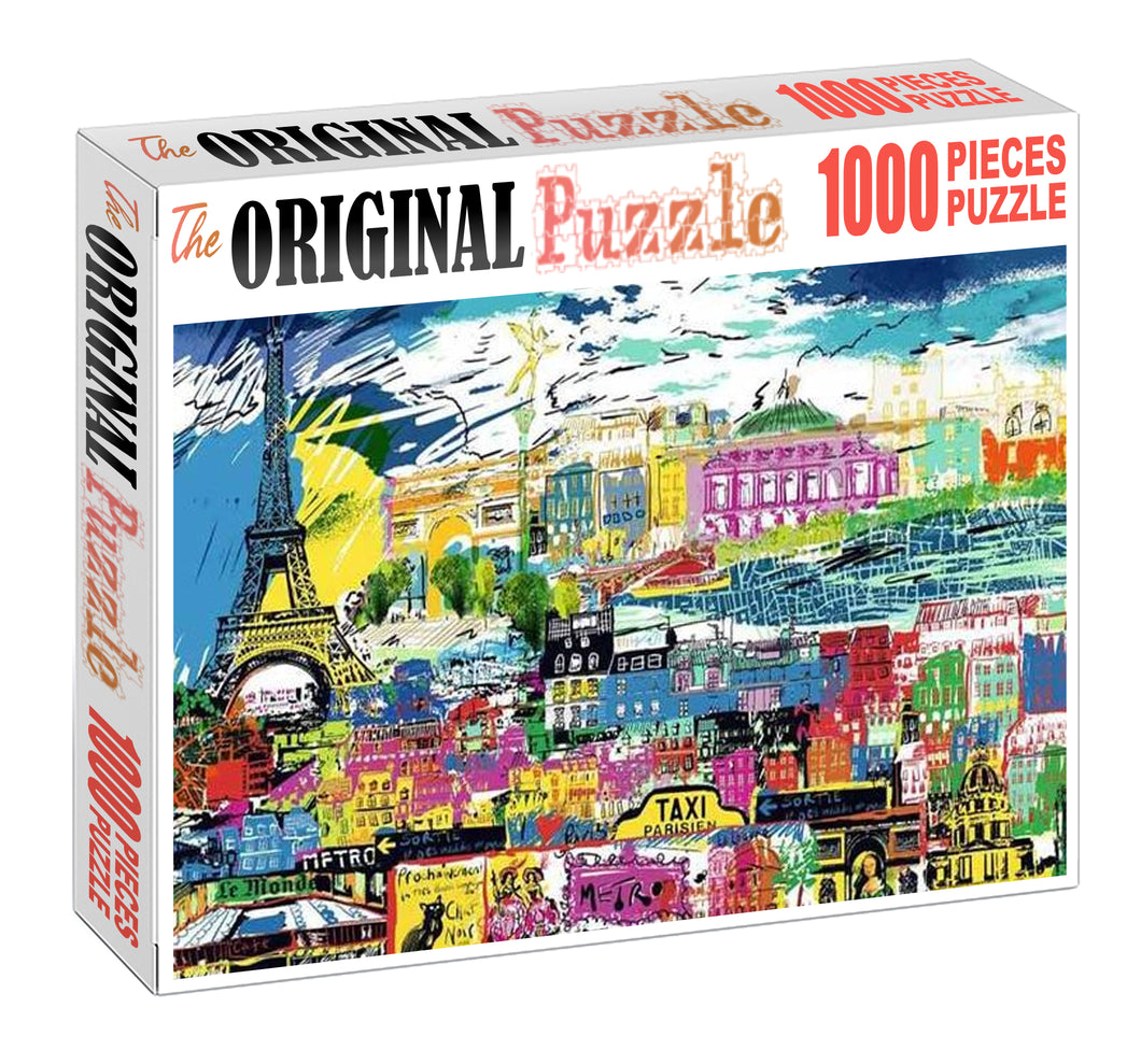 London Paradise Wooden 1000 Piece Jigsaw Puzzle Toy For Adults and Kids