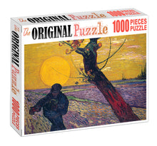 Spreading Seeds in Field is Wooden 1000 Piece Jigsaw Puzzle Toy For Adults and Kids