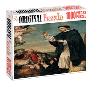 Augustin Preaching is Wooden 1000 Piece Jigsaw Puzzle Toy For Adults and Kids