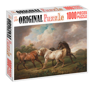 Horse Roaming Wooden 1000 Piece Jigsaw Puzzle Toy For Adults and Kids