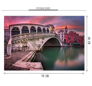 City Bridge Wooden 1000 Piece Jigsaw Puzzle Toy For Adults and Kids