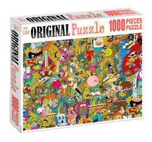 Linian Chiby Art Wooden 1000 Piece Jigsaw Puzzle Toy For Adults and Kids