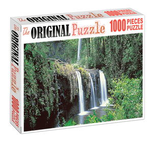 Forest Mini Waterfall is Wooden 1000 Piece Jigsaw Puzzle Toy For Adults and Kids