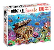 Chest under the Sea is Wooden 1000 Piece Jigsaw Puzzle Toy For Adults and Kids
