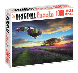 Purple Shade Balloon is Wooden 1000 Piece Jigsaw Puzzle Toy For Adults and Kids