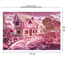 Candy World is Wooden 1000 Piece Jigsaw Puzzle Toy For Adults and Kids