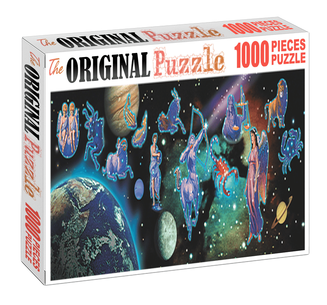 Zodiac Characters is Wooden 1000 Piece Jigsaw Puzzle Toy For Adults and Kids