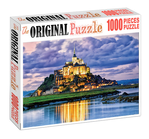 Golden Castle is Wooden 1000 Piece Jigsaw Puzzle Toy For Adults and Kids