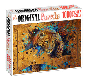 Asian Leopard Wooden 1000 Piece Jigsaw Puzzle Toy For Adults and Kids