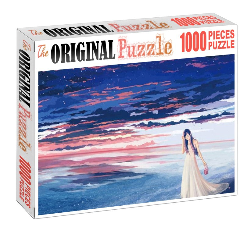 Lonely Girl Wooden 1000 Piece Jigsaw Puzzle Toy For Adults and Kids