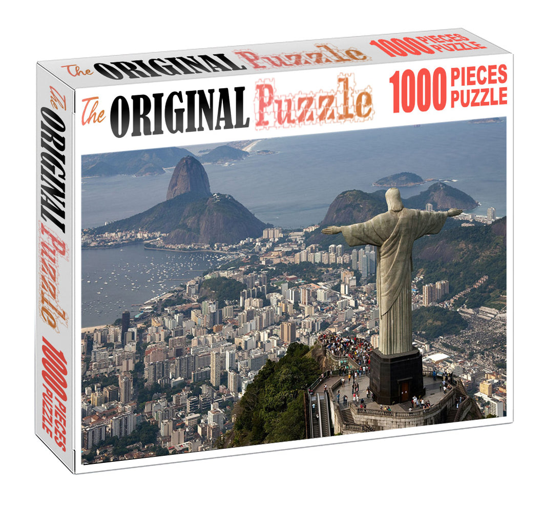 Christ De Jenairio is Wooden 1000 Piece Jigsaw Puzzle Toy For Adults and Kids
