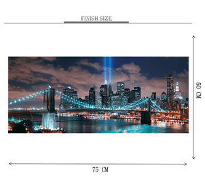 Lighting at Bridge Wooden 1000 Piece Jigsaw Puzzle Toy For Adults and Kids