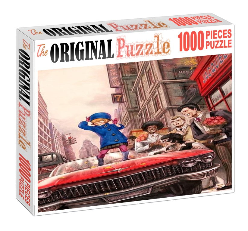 Carzy Vintage Model is Wooden 1000 Piece Jigsaw Puzzle Toy For Adults and Kids