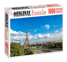 Eiffel Tower Wide View is Wooden 1000 Piece Jigsaw Puzzle Toy For Adults and Kids