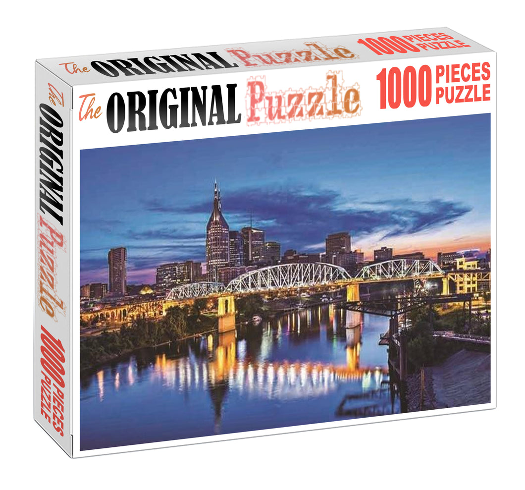 Bridge Reflection Wooden 1000 Piece Jigsaw Puzzle Toy For Adults and Kids