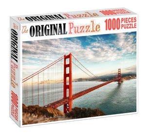 Red Bridge is Wooden 1000 Piece Jigsaw Puzzle Toy For Adults and Kids