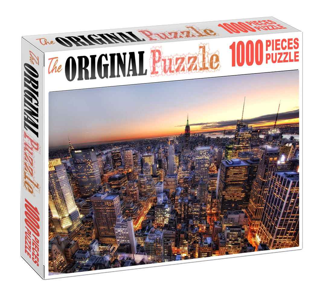 Sky High Building Wooden 1000 Piece Jigsaw Puzzle Toy For Adults and Kids