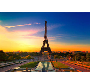 Eifel Sunset Scene Wooden 1000 Piece Jigsaw Puzzle Toy For Adults and Kids