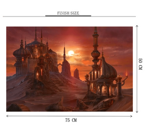 Aladdin Castle is Wooden 1000 Piece Jigsaw Puzzle Toy For Adults and Kids