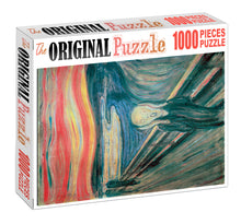 The Scream is Wooden 1000 Piece Jigsaw Puzzle Toy For Adults and Kids