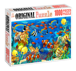 Colorfull Fishes is Wooden 1000 Piece Jigsaw Puzzle Toy For Adults and Kids