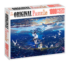 Fairy of Wind Wooden 1000 Piece Jigsaw Puzzle Toy For Adults and Kids