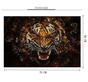 Tiger through Glass is Wooden 1000 Piece Jigsaw Puzzle Toy For Adults and Kids